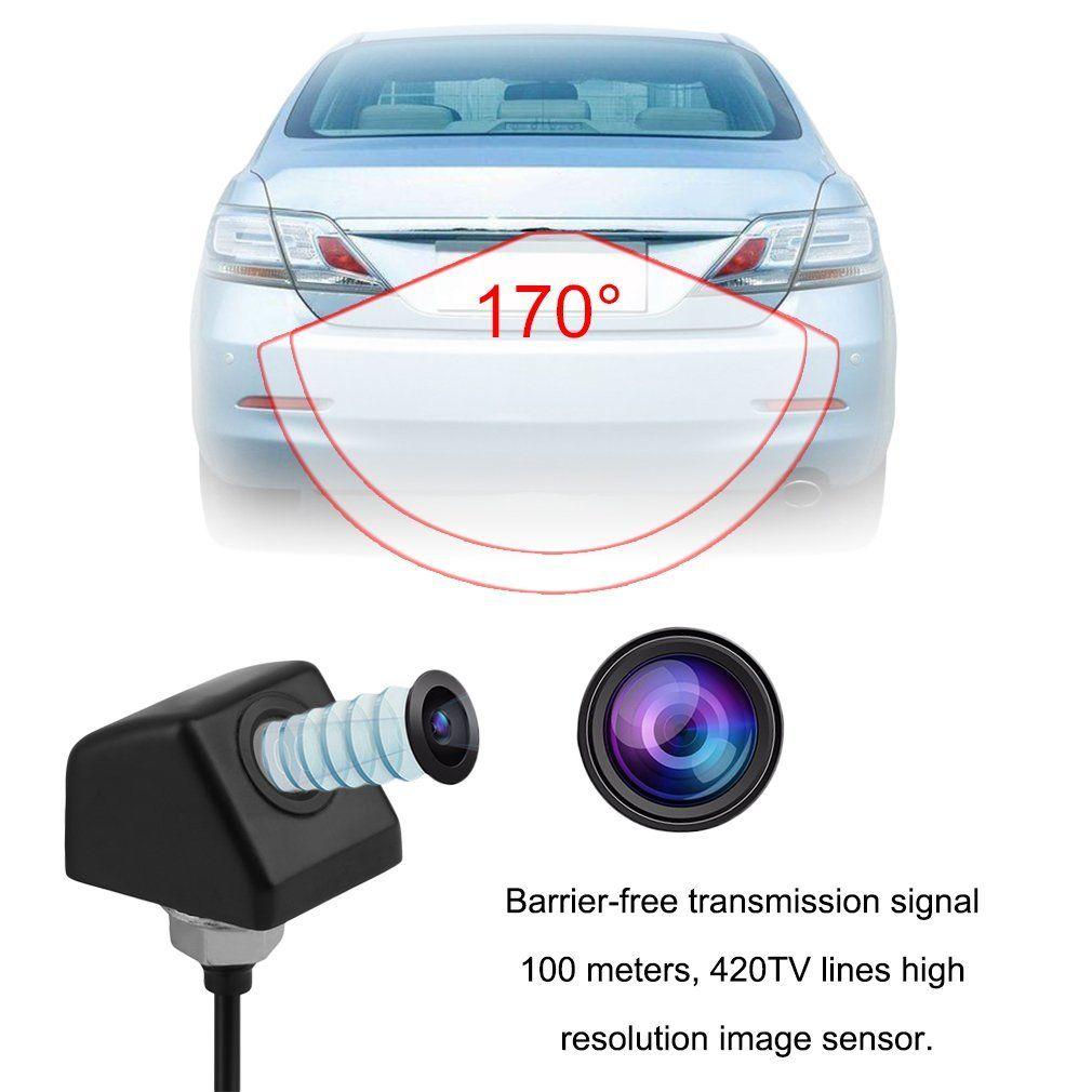 Car Rear View 170掳Back View Black Camera Parking Waterproof Camera Wild,Black