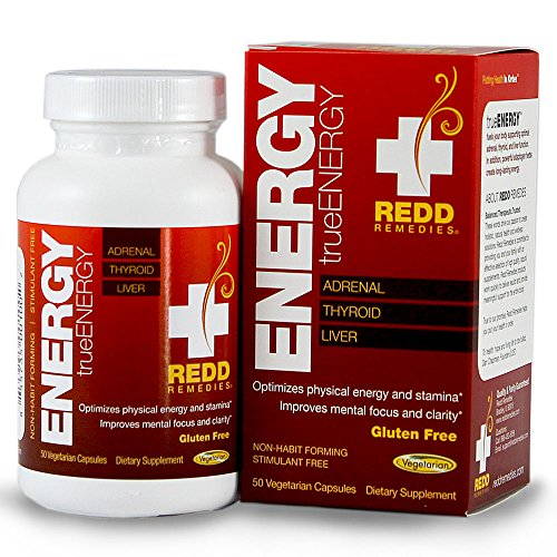 Redd Remedies True Energy - Balances Adrenal Function - Contains Adaptogen Herbs Ginseng And Rhodiola - Promotes Optimal Physical And Mental Energy - 50 Vegetarian Capsules
