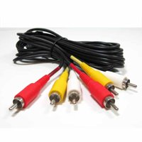 SF Cable 3 RCA Male to 3 RCA Male Audio Video Cable, 3 feet