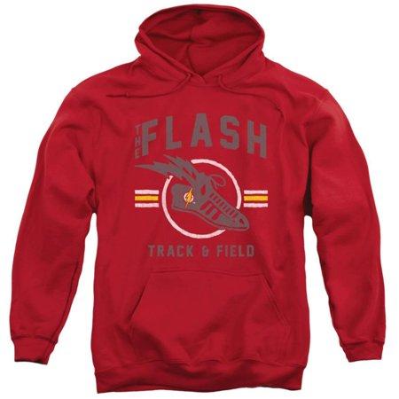 Hoodie: The Flash- Track & Field Logo Apparel Pullover Hoodie - Red