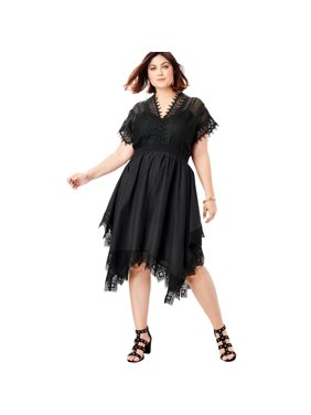 90f779e215a Womens Plus Dresses - Walmart.com