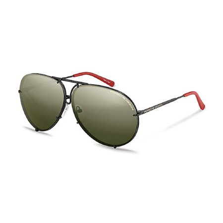 Porsche P8478-R-66 Sunglasses Size 66mm 135mm 10mm Black Brand New