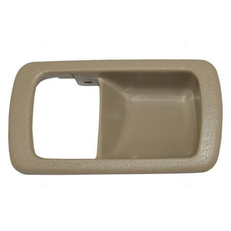 Passengers Inside Inner Beige Door Handle Trim Bezel Replacement for Toyota 69277-32060-W3