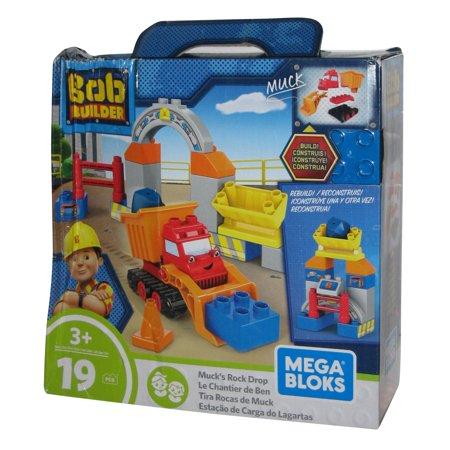 Bob The Builder Mega Bloks Muck's Rock Drop Loading Station Toy Building - Station Building Kit