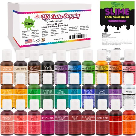 30 Color Food and Slime Coloring Liqua-Gel Ultimate ...
