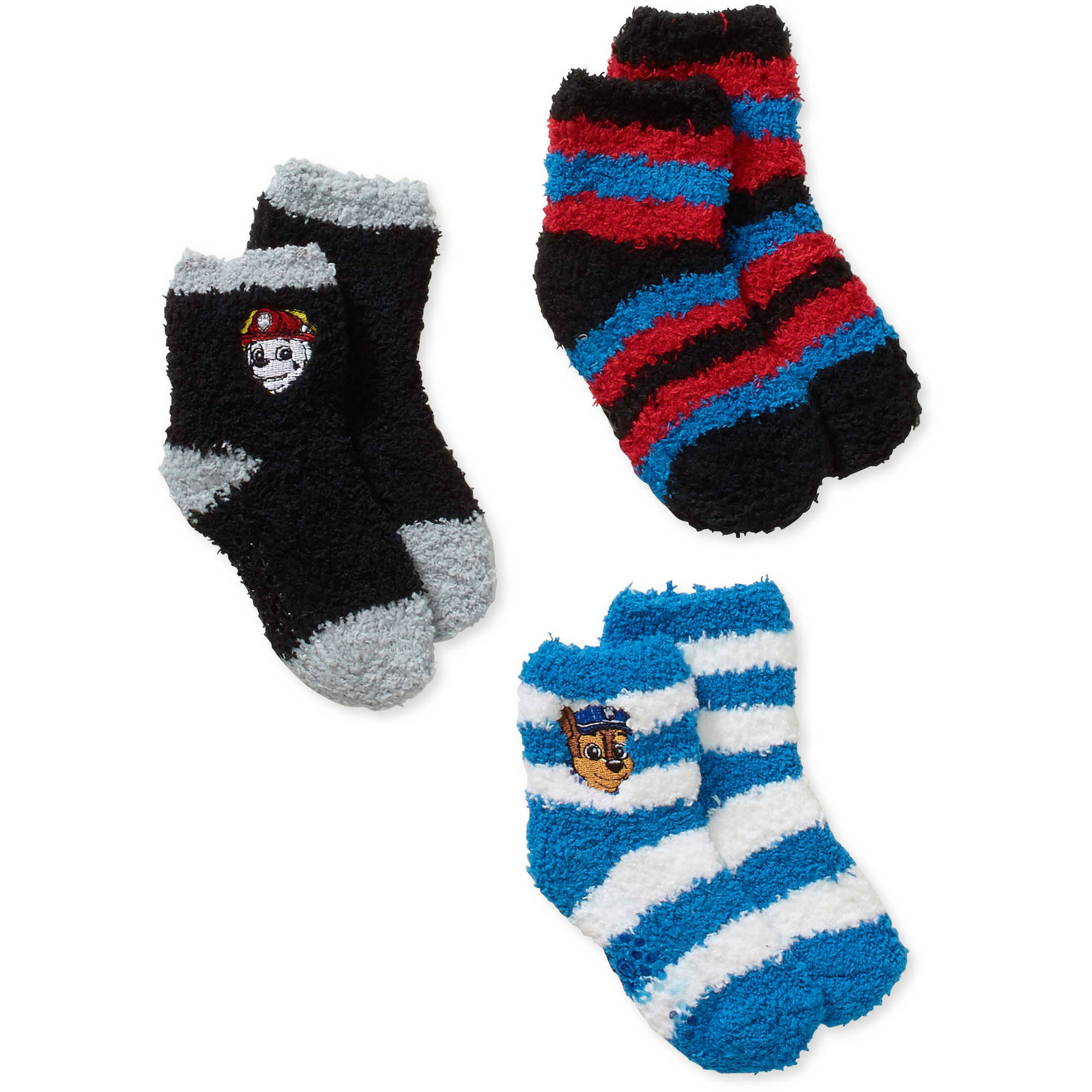 Paw Patrol Baby Toddler Boy Quarter Softee Socks 3 Pack