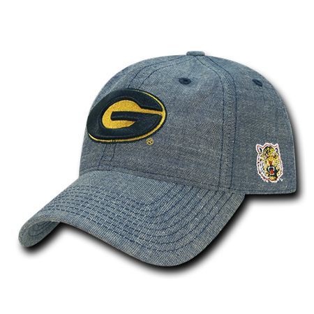 NCAA Grambling State Tigers University 6 Panel Cotton Relaxed Denim Caps Hats