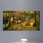 Wallhogs Waterhouse The Naiad (1893) Poster Wall Mural