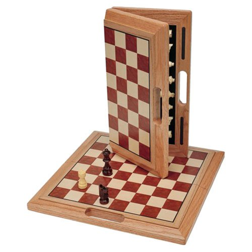 16 Inch Camphor Folding Chess Set by Wood Expressions