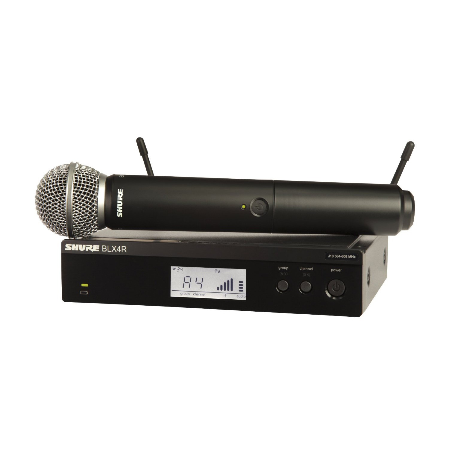 Shure BLX24R SM58 Wireless Vocal Rack Mount System with SM58 Handheld Microphone by Shure