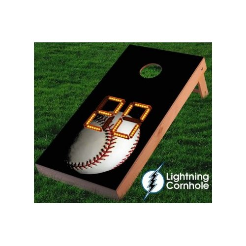 Lightning Cornhole Electronic Scoring Baseball Cornhole Board by