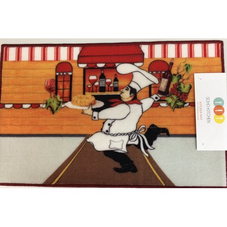 Soho Italian Chef Kitchen Rug With Non Skid Back Walmart Com