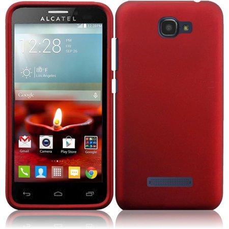 Hard Rubberized Case for Alcatel One Touch Fierce 2 Pop Icon 7040T - Red ()