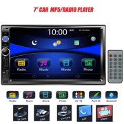 "7"" Double DIN Touchscreen in Dash Bluetooth Car Stereo Mp3 Audio 1080P Video Player FM Radio/AM Radio/TF/ USB/AUX-in + Remote Control"