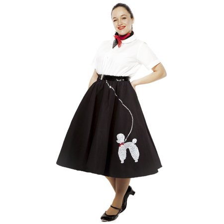 Sock Hop 50s Felt Poodle Skirt in Retro Colors - size Adult Medium/ Large](Diy 50s Skirt)