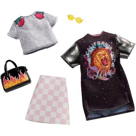 Barbie Checkered Graphic Outfit Fashion Pack with Accessories