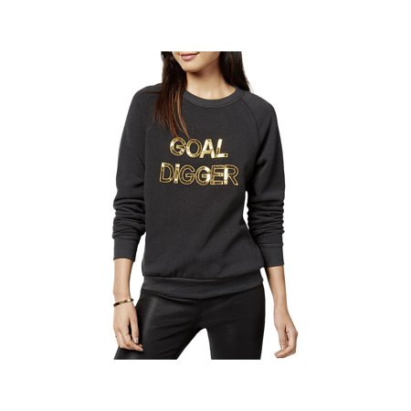 Bow & Drape Womens Sequined Pullover Sweater (Sequin Trim Sweater)