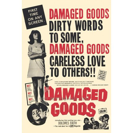 Damaged Goods Movie Poster Print  27 X 40