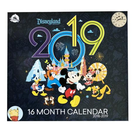 2019 Disneyland Calendar Disney Parks 2018 2019 Disneyland Resort 16 Month Calendar BONUS
