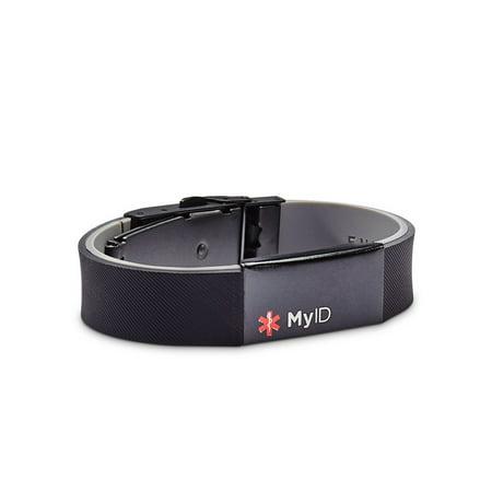 Myid Sleek Medical Id Bracelet Online Profile With Watch Clasp