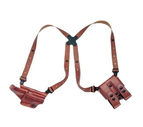 Galco Miami Classic Shoulder Holster System, Left Hand, Tan, Springfield XD 9 40 by