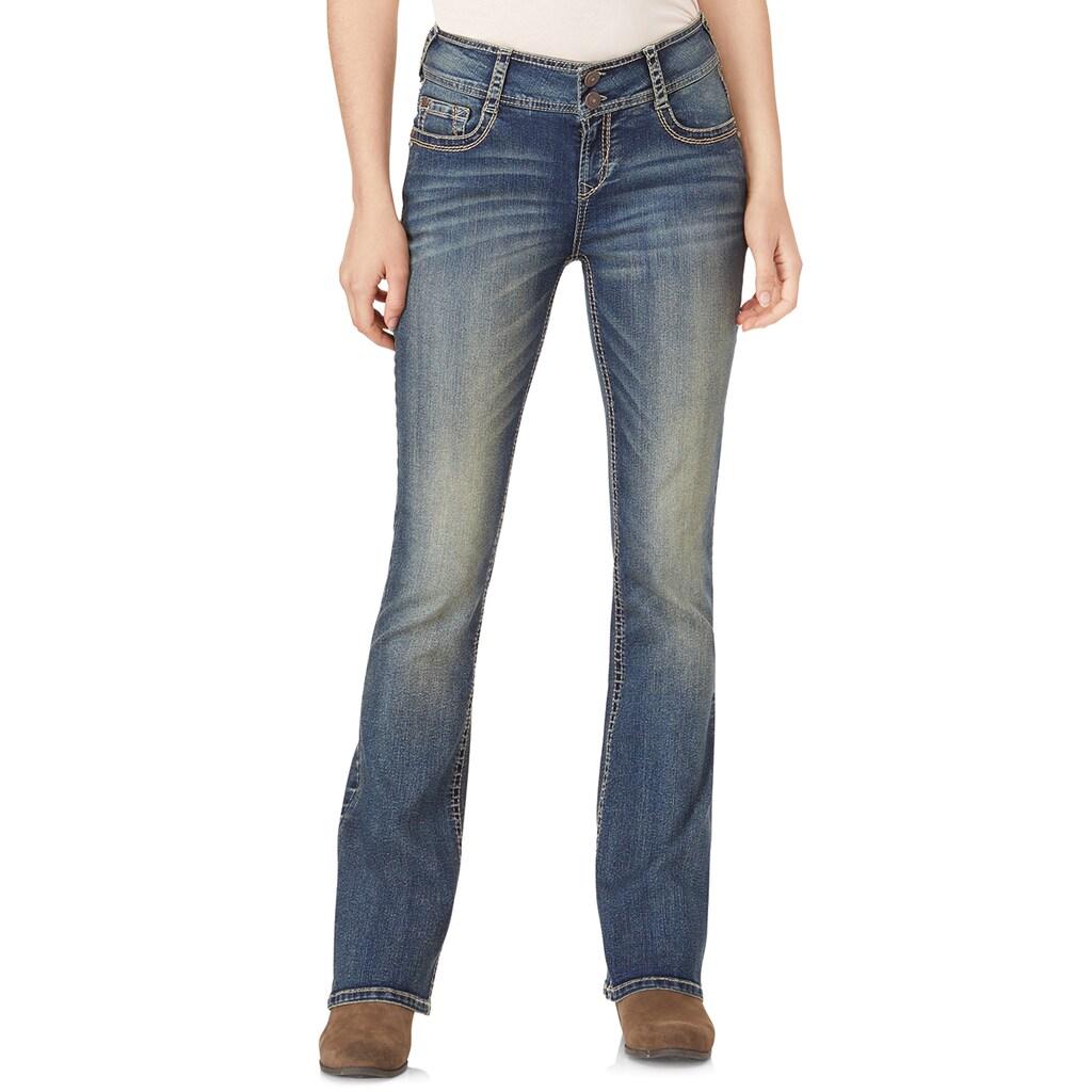 Wallflower Juniors Wallflower Insta Stretch Luscious Curvy Bootcut Jeans Basil Walmart Com Walmart Com