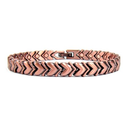 Happy Hearts Magnetic Copper Bracelet, Magnetic Therapy Bracelet For Arthritis And Carpal Tunnel Pain