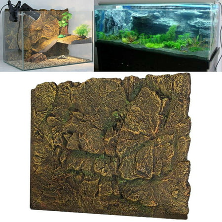 New 3d Foam Rock Reptile Aquarium Fish Tank Background Backdrop Diy Decoration 24 X 18