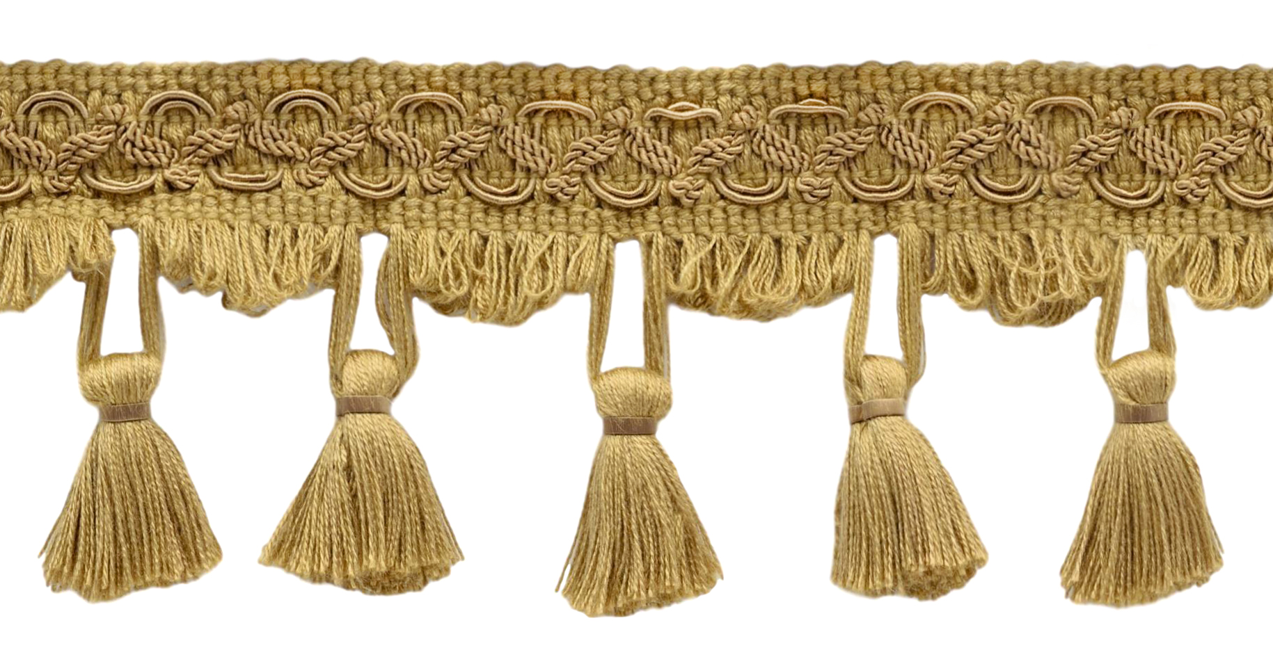 A1 D/ÉCOPRO 6 Yard Value Pack 2.5 Inch White Tassel Fringe Trim Basic Trim Collection Style# TFC0225 Color: First Snow 18 Ft // 5.5 Meters