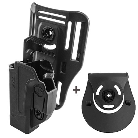 Orpaz Glock 19 Holster Fits Also Glock 17 Glock 22 Glock 26 Glock 34 Left  Handed Low-Ride Holster