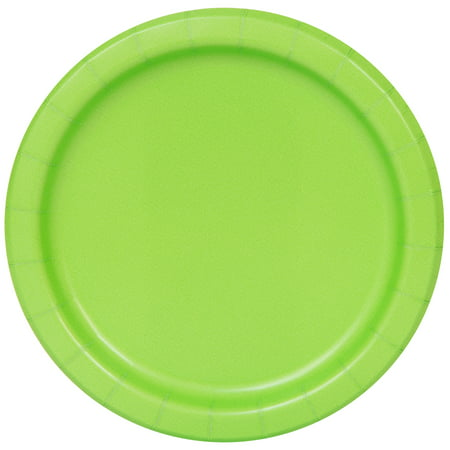 Paper Plates, 7 in, Lime Green, 20ct (Solid Color Paper Plates)