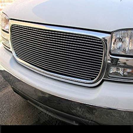Grillcraft GMC2010-BAC BG Series Polished Aluminum Upper 1pc Billet Grill Grille Insert for GMC C1500 C2500 C3500 Suburban Yukon (Gmc C1500 Suburban Billet Grille)