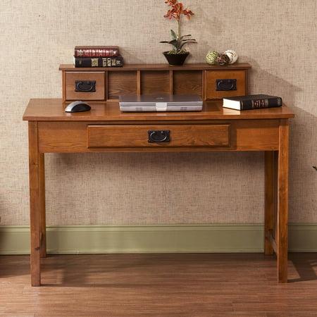 Amarillo Mission Style Writing Desk With Hutch Oak
