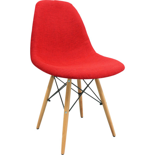 eModern Decor Mid Century Modern Woven Fabric Upholstered Side Chair
