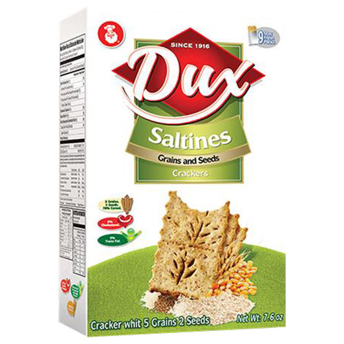 Dux Saltines Grains and Seeds Crackers, 7.6 oz