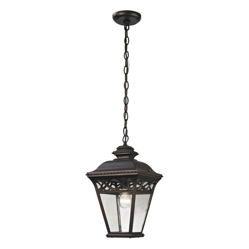 Thomas Lighting Mendham 1 Light Outdoor Pendant Light by CornerStone