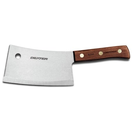 "Dexter Russell S5287 Rosewood Handle HD S/S 7"" Meat Cleaver"