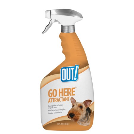 OUT! Go Here Attractant Indoor and Outdoor Dog Training Spray, 32