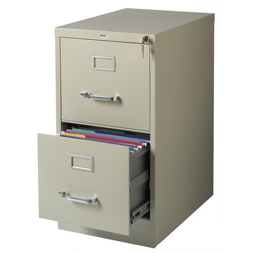 ... Hirsh Industries 2 Drawer Letter File Cabinet in Putty