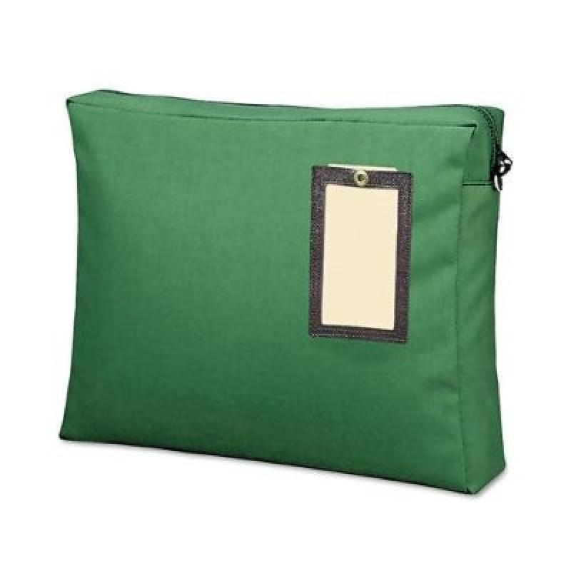 MMF Industries Expandable Nylon Transit Sac, 18 x 14 x 4 Inches, Hunter Green (2342814L02)
