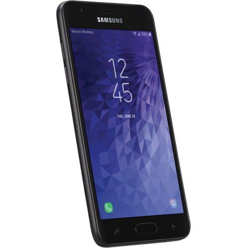 """Samsung Galaxy J3 V (2018) SM-J337V 16 GB Smartphone - Black - 5"""" Active Matrix TFT LCD HD Touchscreen - 2 GB RAM - 4G - Cortex A53 Quad-core (4 Core) 1.30 GHz - 8 Megapixel Rear/5 Megapixel Fron"""