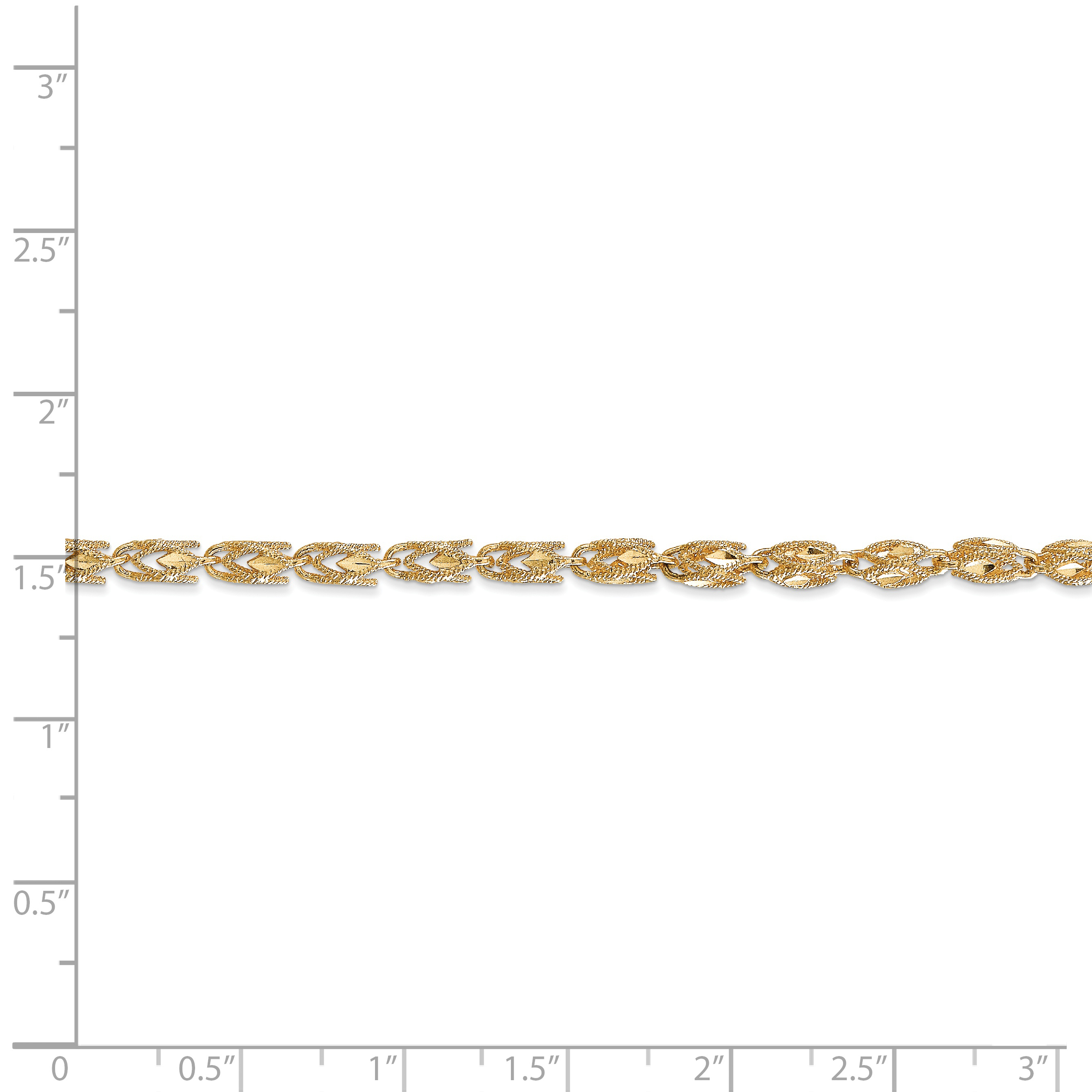 14K Yellow Gold 3.5mm Marquise Chain - image 2 of 4