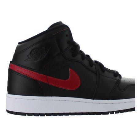 3ab0f420d24ba8 Jordan - Kids Air Jordan 1 Mid GS Black Gym Red White 554725-009 -  Walmart.com