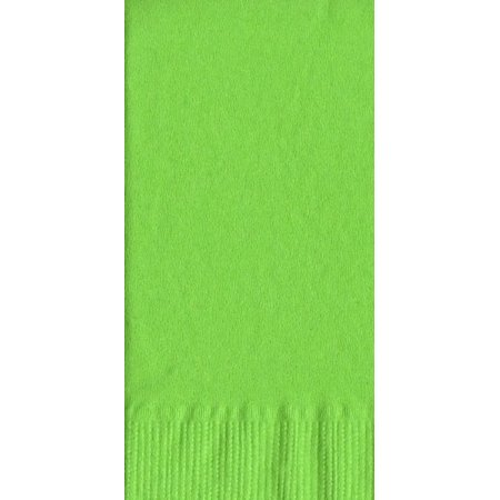 50 Plain Solid Colors Dinner Hand Towel Napkins Paper - Citrus Green