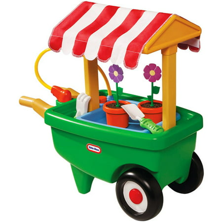 Little Tikes 2-in-1 Garden Cart and Wheelbarrow Play Set