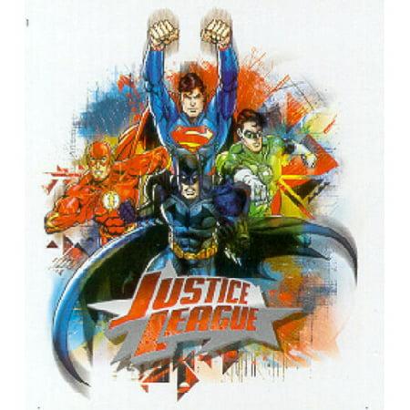 JUSTICE LEAGUE 14 Wall Decals Mural Batman Superman Flash Stickers Green