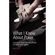 What I Know about Poker : Lessons in Texas Hold'em, Omaha and Other Poker Games