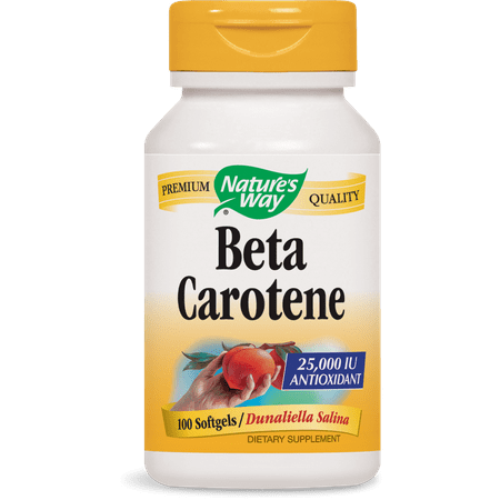 Natures Way Beta Carotene 100 Softgels