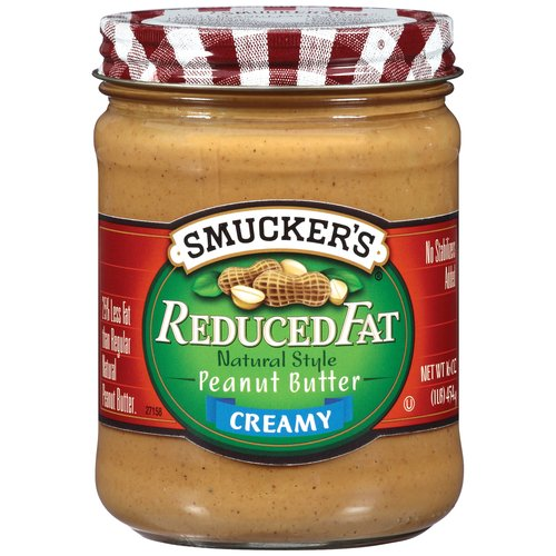 Smucker's Reduced Fat Natural Style Creamy Peanut Butter, 16 oz