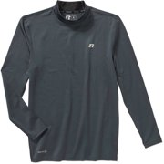 Russell Big Men's Cold Compression Long Sleeve Mock Neck Shirt